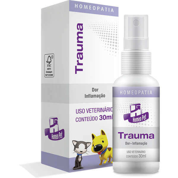 Trauma Spray Homeopático Homeo Pet 30 ml