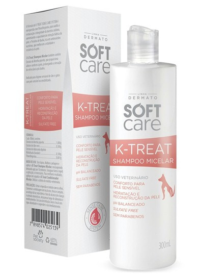 K-Treat Soft Care Shampoo Micelar Pet Society 300ml