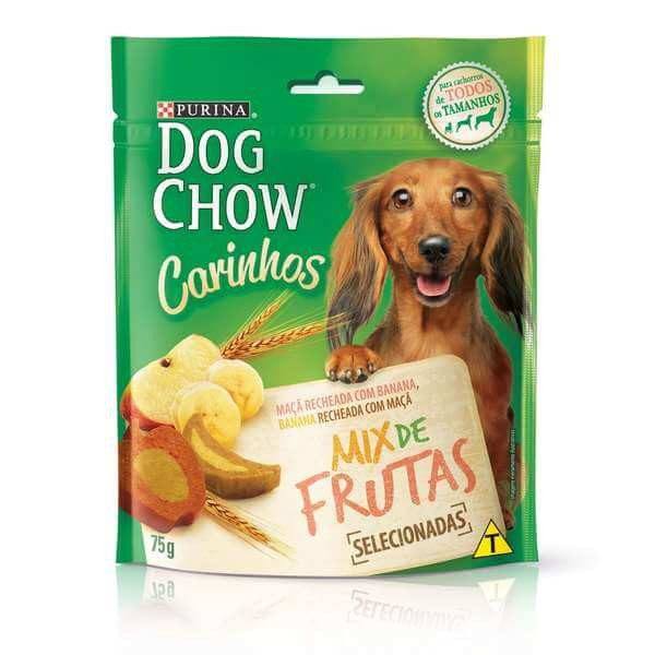 Petisco Purina Dog Chow Carinhos 75g - Mix de Frutas