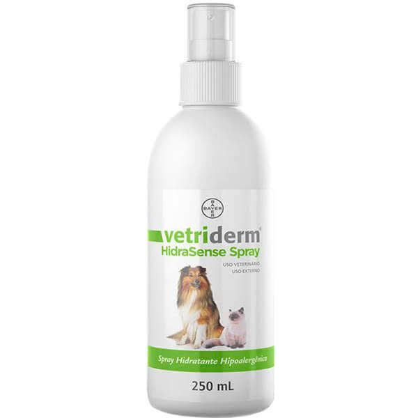 Vetriderm HidraSense Spray Hipoalergênico Bayer 250ml