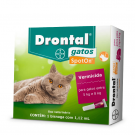 Vermífugo Bayer Drontal Spot On Gatos 5 a 8 kg
