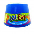Comedouro Cat Eat Azul para Gatos - Antifadiga dos Bigodes