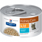 Ração Úmida Hill's Prescription Diet K/D Atum e Vegetais para Gatos - Renal - Lata 82g