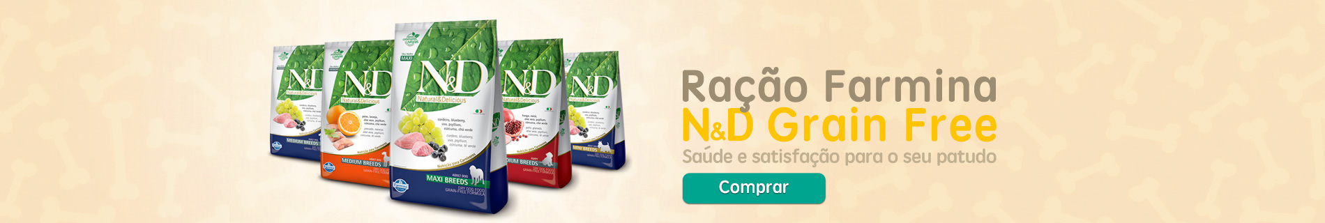 Ração Super Premium Farmina N&D Grain Free